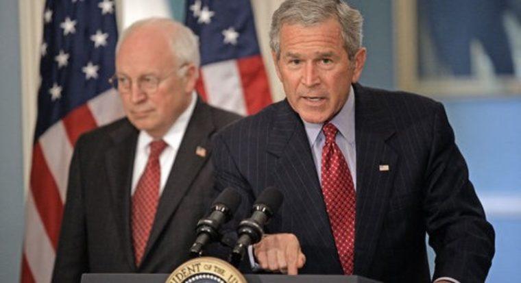 Bush Addresses Media On Israel Lebanon W Cheney Aug 14 2006 515X280