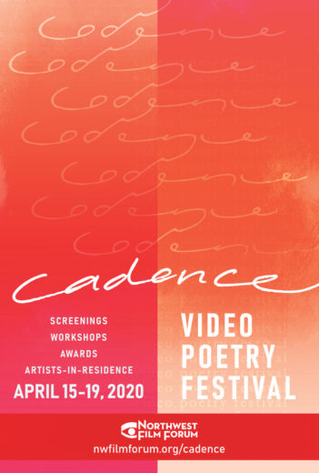 Cadence Video Poetry Festival 2020 3 27 2020 poster revision