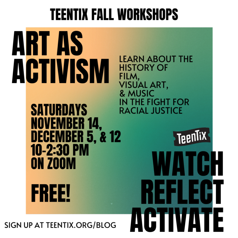 Art as activism general workshop ad