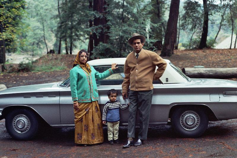 Bollywood 6 6 family with car 1970s